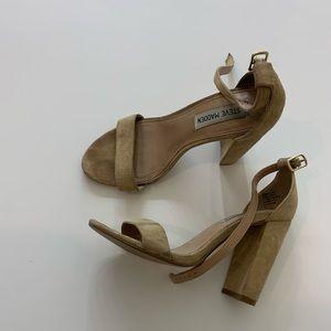 Nude chunky Steve Madden heels